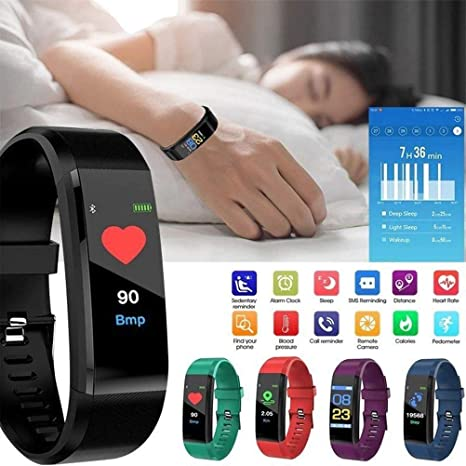 Amazon.com: 115 PLUS watches New Smart Watch Men Women Heart ...
