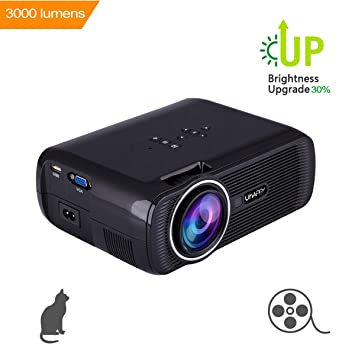 Uhappy U80 LED Mini Proyector de Video, 3000 Lumens Full HD ...