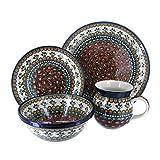 Polish Pottery Golden Pastures 16 PC Dinnerware Set
