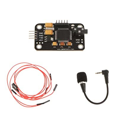 MonkeyJack Speech Voice Recognition Module & microphone with 4Pin Cable for  Arduino
