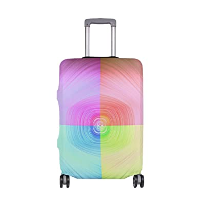 Interwoven Color Luggage Cover Elastic Suitcase Protector Fits 18-32 Inch