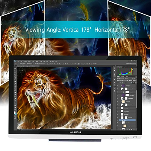 Huion 21.5 Inch Pen Display IPS Interactive Pen Monitor Graphics Monitor for Windows and Mac—GT-220 V2 Silver by Huion (Image #4)
