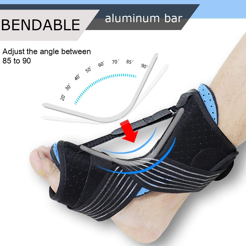 2020 New Upgraded Night Splint for Plantar Fascitis, Breathable & Adjustable Sleep Support Foot Drop Orthotic Brace for Plantar Fasciitis, Arch Foot Pain, Achilles Tendonitis Support for Women, Men: Industrial & Scientific
