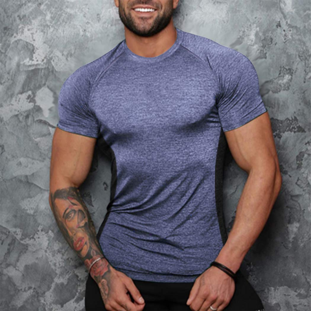 COOFANDY Mens Hoodies Gym Workout Short Sleeve T Shirt Bodybuilding Sportswear