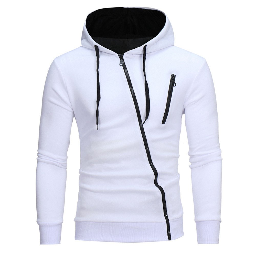 Letter Automne Hiver Imprimer Hoodie Sweat à capuche Tops Veste Manteau Outwear (L, Noir)
