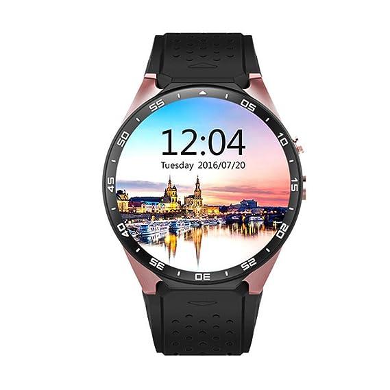 Reloj Inteligente Bluetooth KW88 con Pantalla táctil y Monitor de frecuencia cardíaca Reproducción de música Soporte