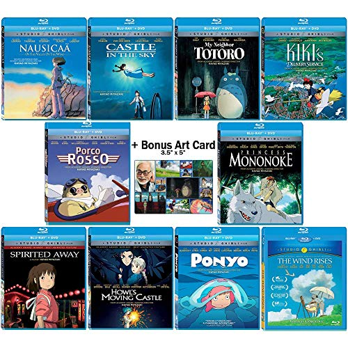 The Master Blu-ray Collection: Written & Directed by Hayao Miyazaki (Nausicaa of the Valley of the Wind / Castle in the Sky / My Neighbor Totoro / Kiki's Delivery Service + More!) + Bonus Art Card (My Neighbor Totoro Blu Ray)