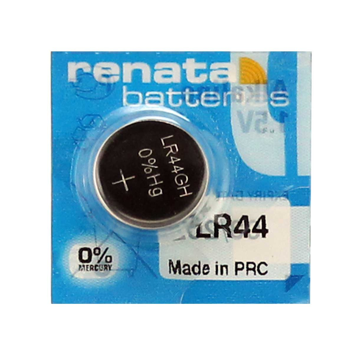 1.5V Alkaline Button Battery A76, V13GA Renata LR44 2 Pack
