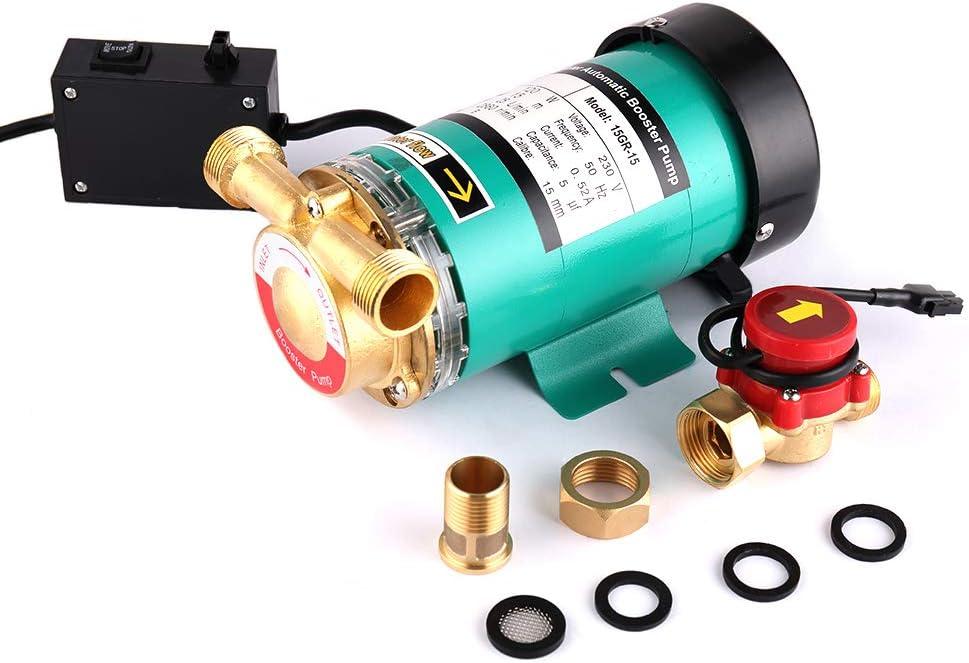 SHYLIYU Bombas de presión automáticas de bomba de refuerzo Bomba de agua caliente de salida con interruptor de flujo de agua de latón para el hogar/ducha Lavadora 120W 25l / min