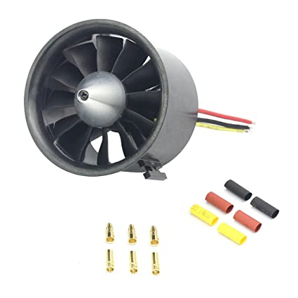 QWinOut QX-Motor 70mm 12 Blades EDF Ducted Fan 6S Motor QF2827 1800KV  Brushless Motor for Jet Airplane