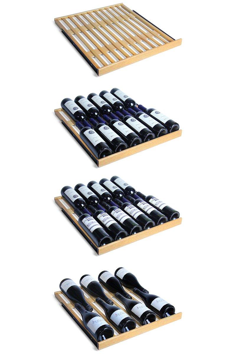 Allavino FlexCount Classic 348 Bottle Dual Zone Wine Cellar Refrigerator - Stainless Steel Doors