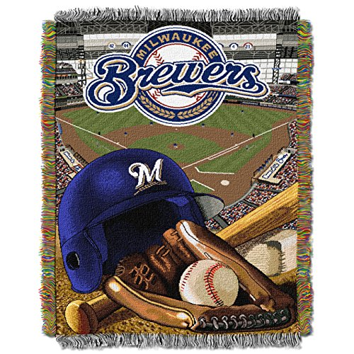 - The Northwest Company MLB Milwaukee Brewers Home Field Advantage Woven Tapestry Throw, 48