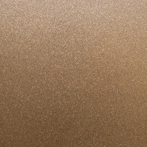 Best Creation 12-Inch by 12-Inch Glitter Cardstock, Bronze Copper, Pack of 15