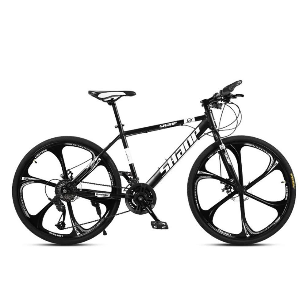 echa un vistazo a los más baratos negro 30Speed Unisexo 26 Pulgadas Ruedas de de de 6 radios Bicicleta de montaña 21 24 27 30 Velocidad Freno de Disco Doble Bicicleta MTB,verde,21Speed  ahorra hasta un 80%
