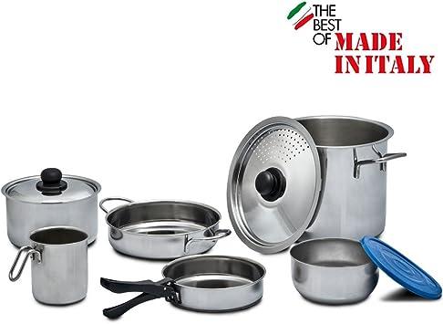 9 teilig utensilios de cocina de acero inoxidable para 5 Pers ...