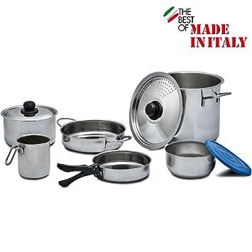 9 teilig utensilios de cocina de acero inoxidable para 5 ...