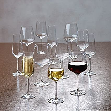 9388e33b170d Villeroy & Boch Ovid 12 Piece Wine, Goblet and Champagne Glass Set - Gift  Box: Amazon.co.uk: Kitchen & Home