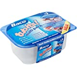 Baco Food Storage Container Tubs for Use in Fridge and Microwave Made from Plastic - Set of 3