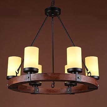 Hanfkronleuchter Industrial Edison Retro Style 6 Lampe Küche Insel ...