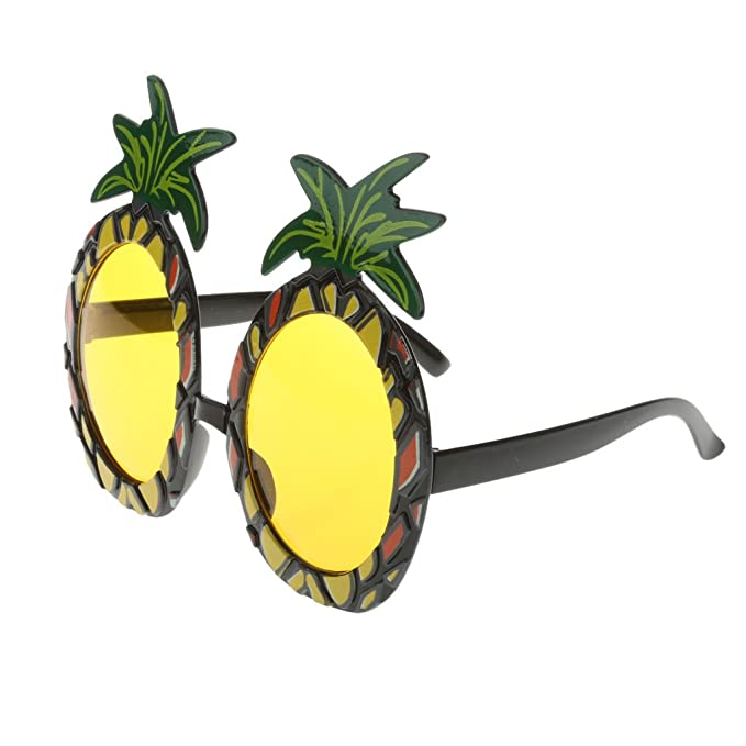TRIXES Tropical Fancy Dress Pineapple Sunglasses