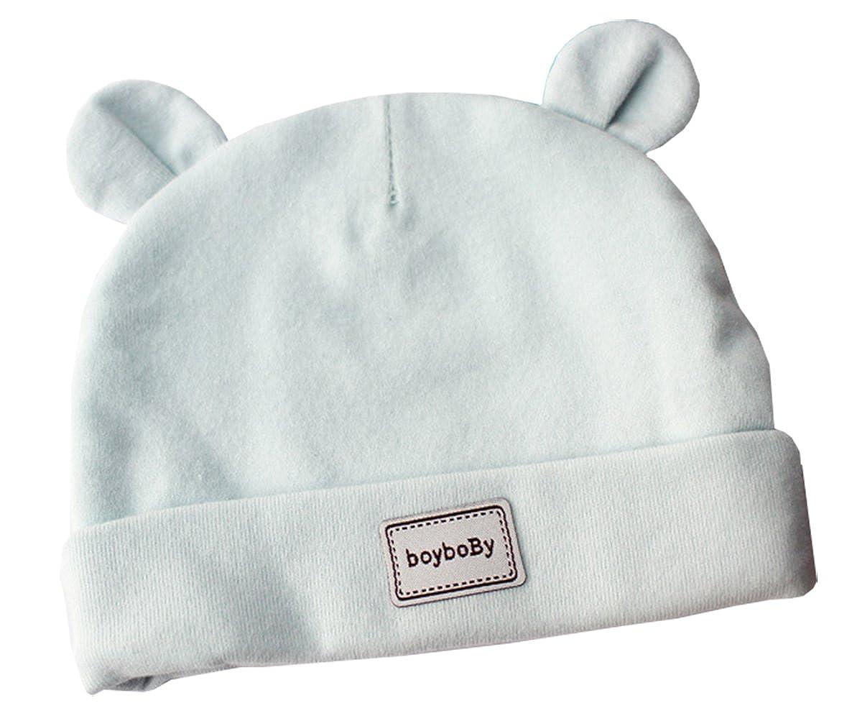 d9a60d39160 Sweet Bonnet de Bébé Naissance Cagoule Coton 0-3mois Tricot Hiver Chaud  Douce Sommeil 7P006