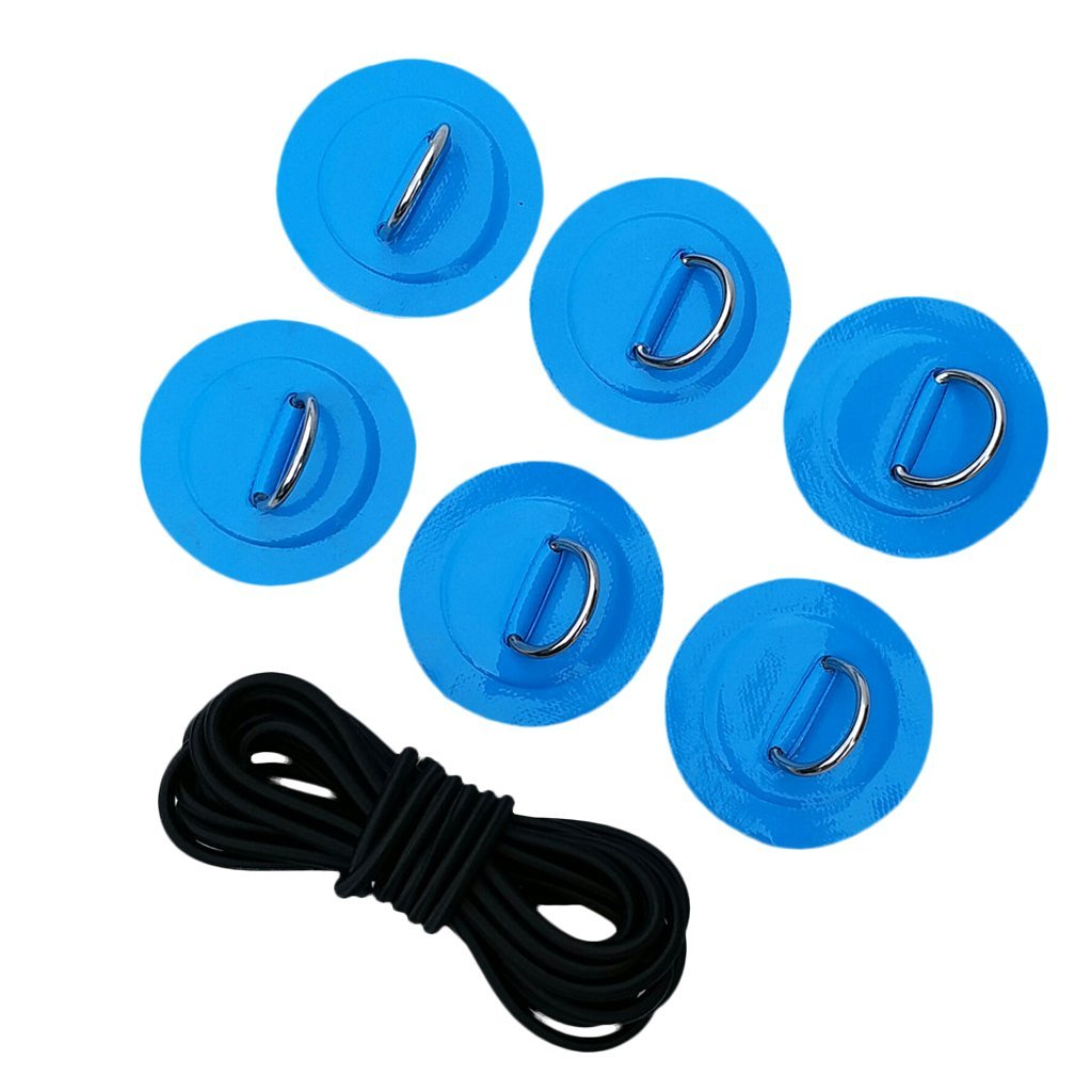 NON Stand Up Paddleboard Sup Bungee Deck Rigging Kit Heavy Duty 6 Piezas D-Ring Pad Patch Deck Kit De Accesorios Accesorios