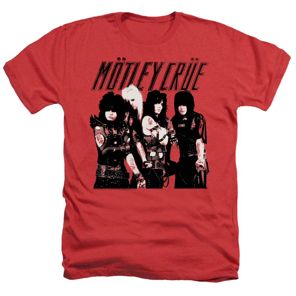 Motley Crue Group Unisex Adult Heather T Shirt for Men and Women