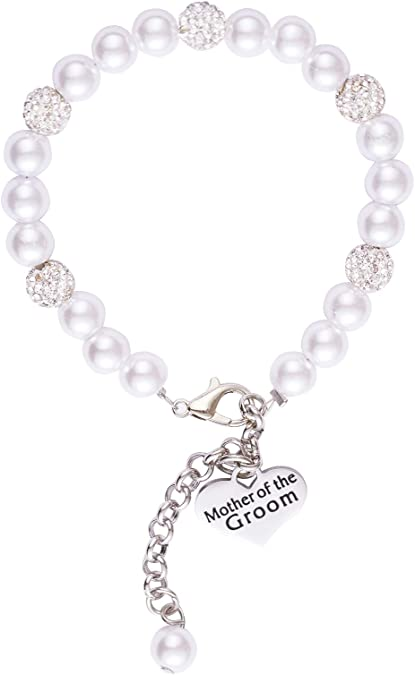 Grandma Mother of the Bride Nana Mother of the Groom Stepmother Gift Grandmother Pearl Bracelet Mother From Daughter Mimi