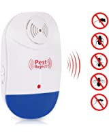 Eco-Mate Ultrasonic Pest Repeller for Mouse, Rat, Cockroach, Rodents, Flies, Roaches, Ants, Fleas and Other Insects. Indoor, Garden, Back Yard repellent with Night Light (1)