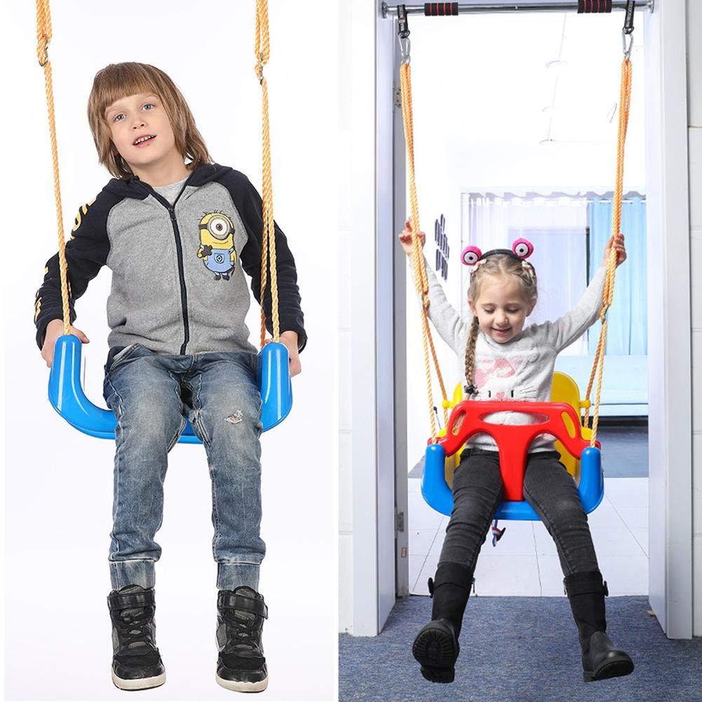 somedays Asiento de Columpio para beb/és Asiento de Seguridad para beb/és y Adolescentes a ni/ños peque/ños al Aire Libre Desmontables Ni/ños Que cuelgan el Asiento 3 en 1
