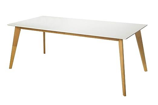 DuNord Design - Mesa de Comedor (Madera Maciza de DM, 160 cm ...