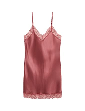 618f24e9b513 Intimissimi Womens Silk Slip With Lace Insert Detail: Amazon.co.uk: Clothing
