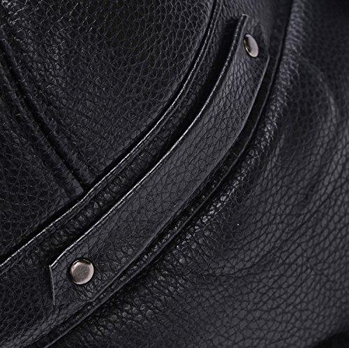 Unisex Ear Caza Bomber Hat Sombrero Aviador Invierno Fur Pu Flap Trapper Faux US0xYq