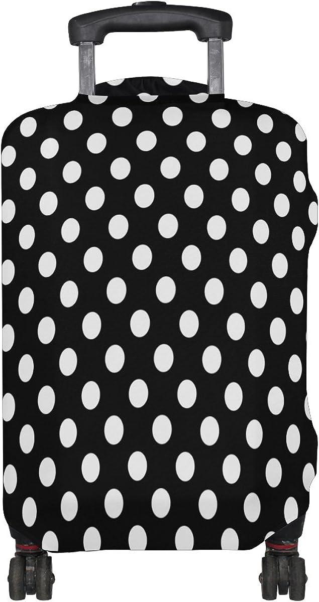 ALAZA Black White Polka Dot Travel Luggage Cover Suitcase Cover Case
