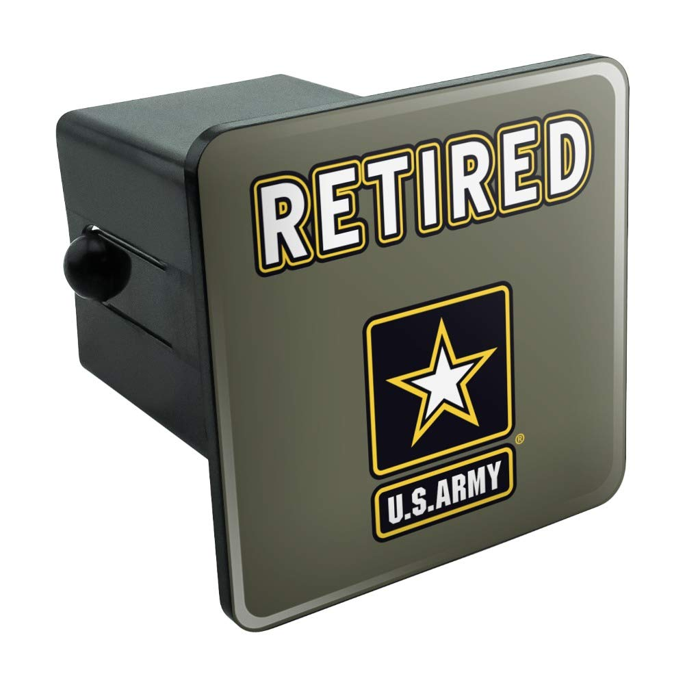 Graphics and More U.S. Army Retired Logo Tow Trailer Hitch Cover Plug Insert by Graphics and More
