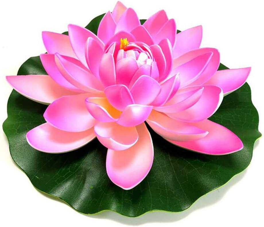 17cm artificial flotante de flores de loto del lirio Flores flotantes Conjunto para piscinas Centros de Fiesta estanques de peces del tanque del paisaje 4set Amarillo Blanco Rosa rosa claro