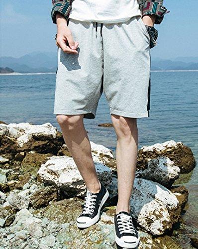 Millya verano hombres elástico pantalones cortos algodón de Deportes de playa Loose surf Short Pants