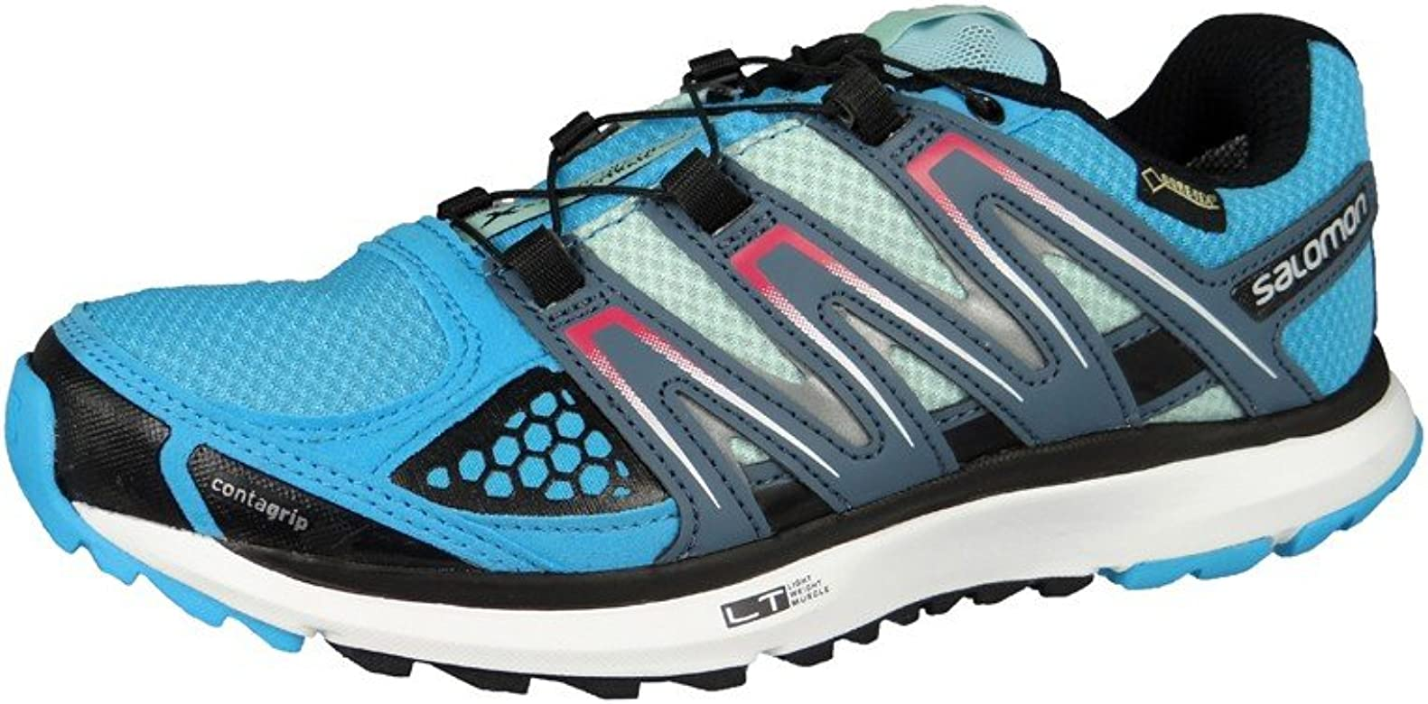 Zapatillas para trail running Salomon X-Scream GTX gris/azul para mujer Talla 38 2015: Amazon.es: Zapatos y complementos