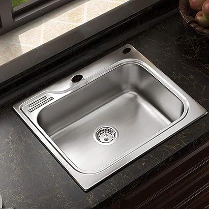 Engrosamiento de la cocina Olla de lavado con fregaderos ...