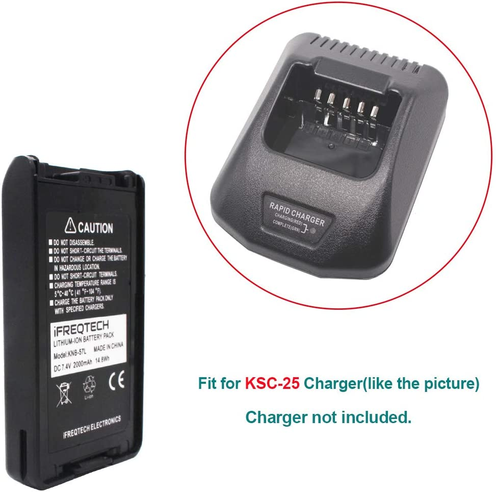 KSC-25 Rapid Battery Charger Power Adapter for KENWOOD TK-3170 TK-3173 TK-3178