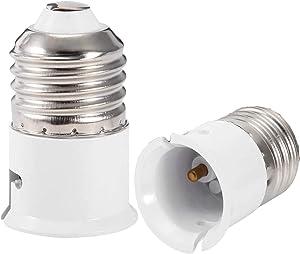 E27 to B22 Lamp Socket, Edison ES to Bayonet BC Adapter Socket Converter, E27 to B22 Socket Adapter, LED Lamp Socket Adaptor Convertor, 0-250V, 2A Lamp Socket Converter,1 Pack