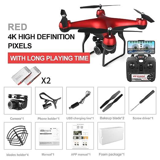 JohnnyLuLu F68 FPV RC Drone con cámara 4K HD, WiFi FPV Video en ...