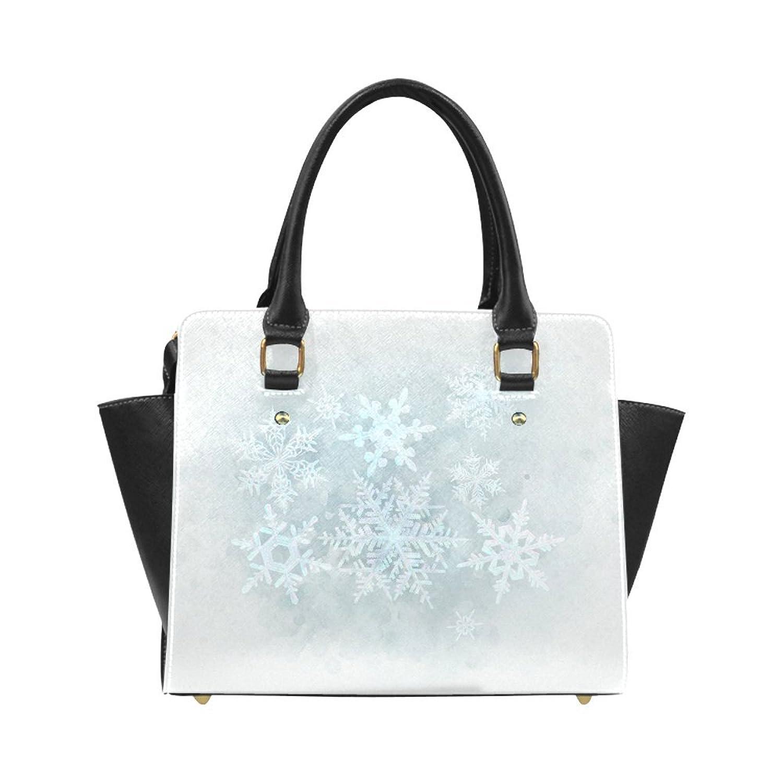 Interestprint Custom Snowflakes White and blue Classic Women Top Handbag Shoulder Bag