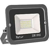 20W LED Foco Exterior Alto Brillo Proyector Led Impermeable IP65 Blanco Cálido 3000K Floodlight Led Foco Exterior Iluminación para Patio, Camino, Jardín, Almacén [Clase de Eficiencia Energética A++]