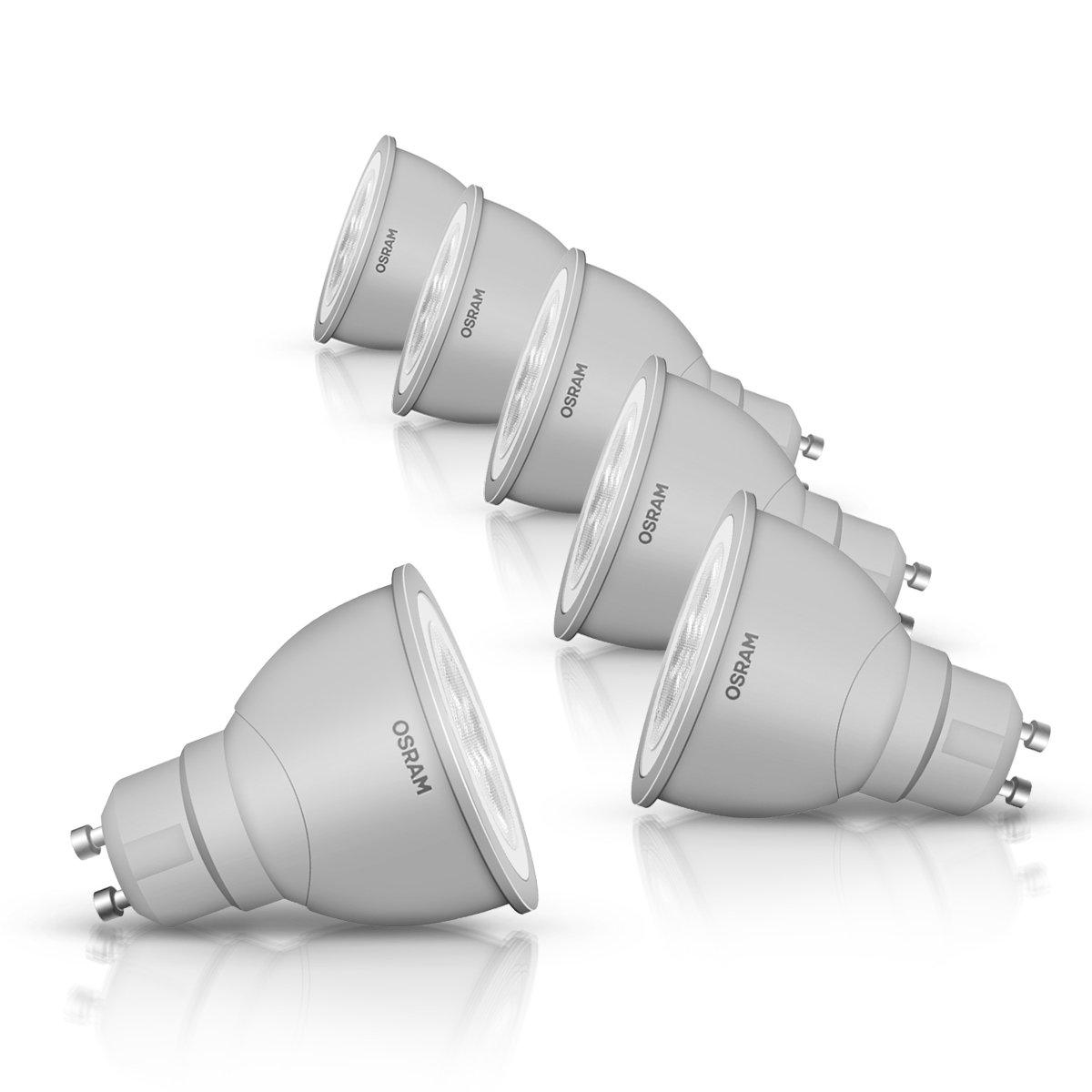 Osram 43140P6OS  LED Star Par Culot GU10 3, 5 W Blanc chaud Lot de 6 LEDVANCE 4052899910447 lampe halogène réflecteur lampe led réflecteur lampe OSRAM réflecteur éclairage led salle de bain éclairage led projecteur halogène éclairage led halogène