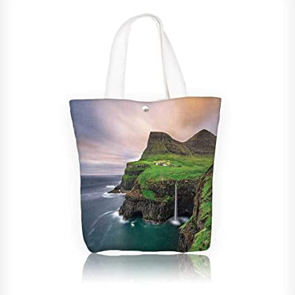 c1e8f16be54 Amazon.com: Canvas Tote Bag Aerial View of Cliffs in Northern ...