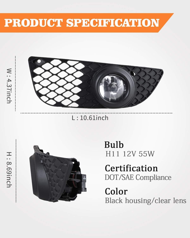 100W Halogen 2006 Mitsubishi LANCER SPORTBACK Post mount spotlight 6 inch Driver side WITH install kit -Black