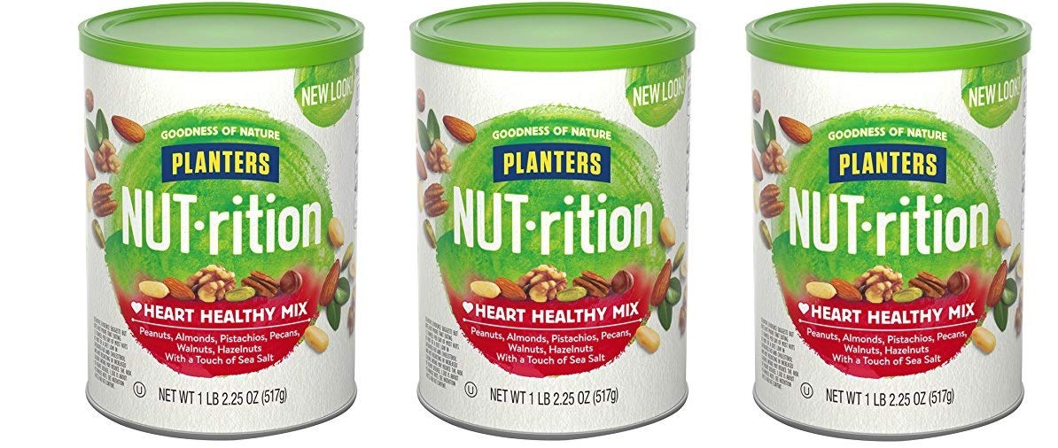 Planters Nutrition Heart Healthy Mix, 3 Tubs