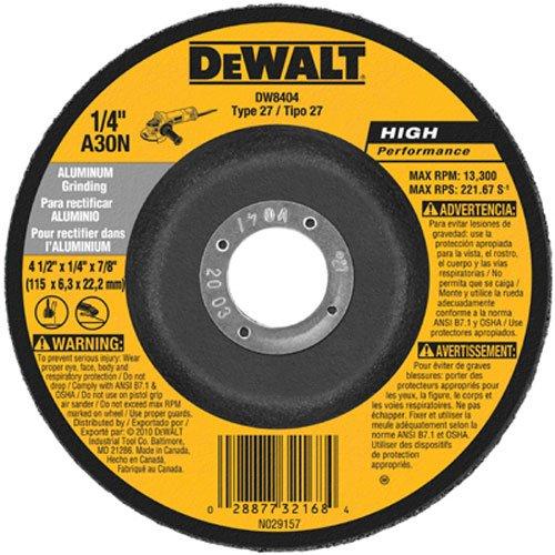 DEWALT DW8400 4-Inch by 1/4-Inch by 5/8-Inch Aluminum Grinding Wheel (25-Pack)