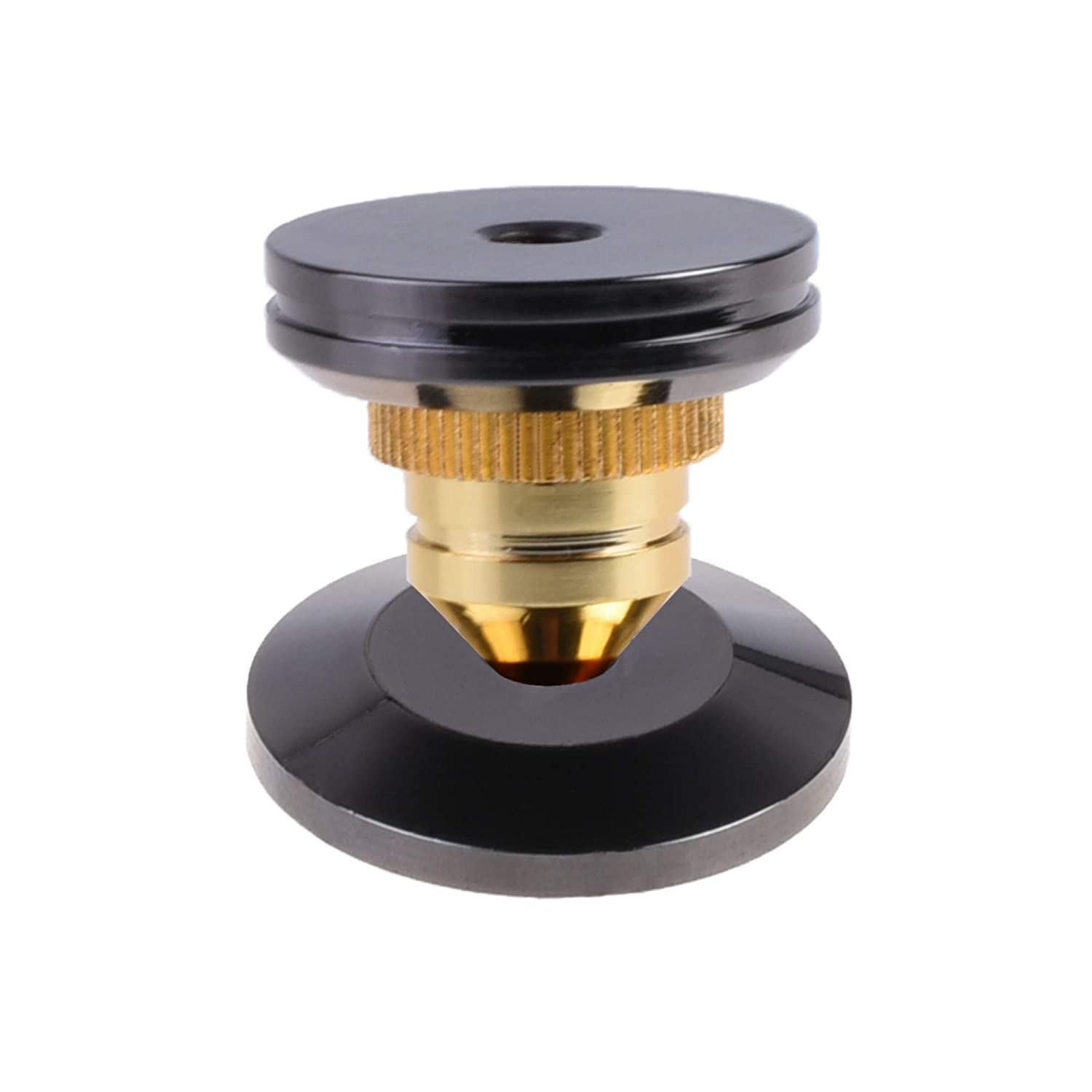 Bluecell Pack of 8 Black 24K Nickel Plated Speaker Spikes Pads Mats 5x25mm Isolation Stand Foot Cone Base